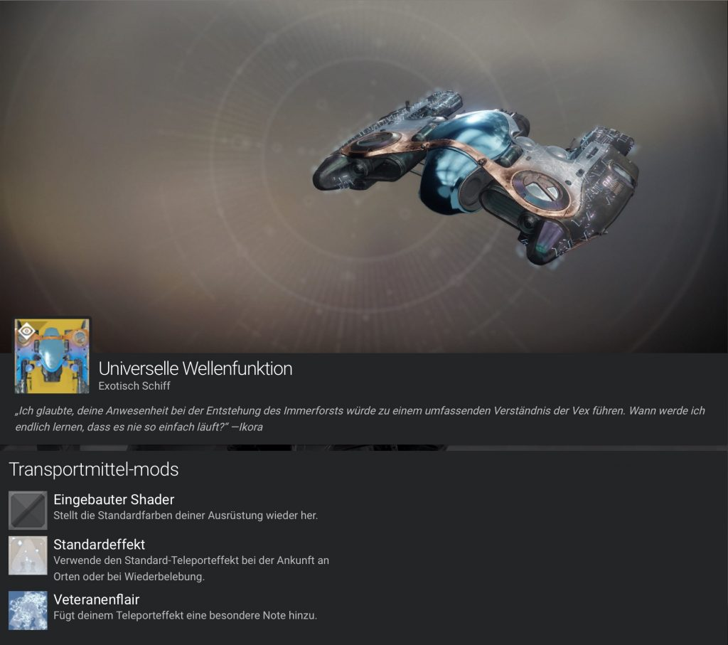 Destiny 2 Universelle Wellenfunktion 1