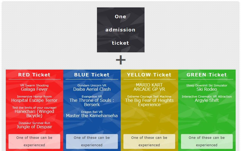 VR Zone Shinjuku Tickets