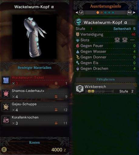 Wackelwurm-Kopf