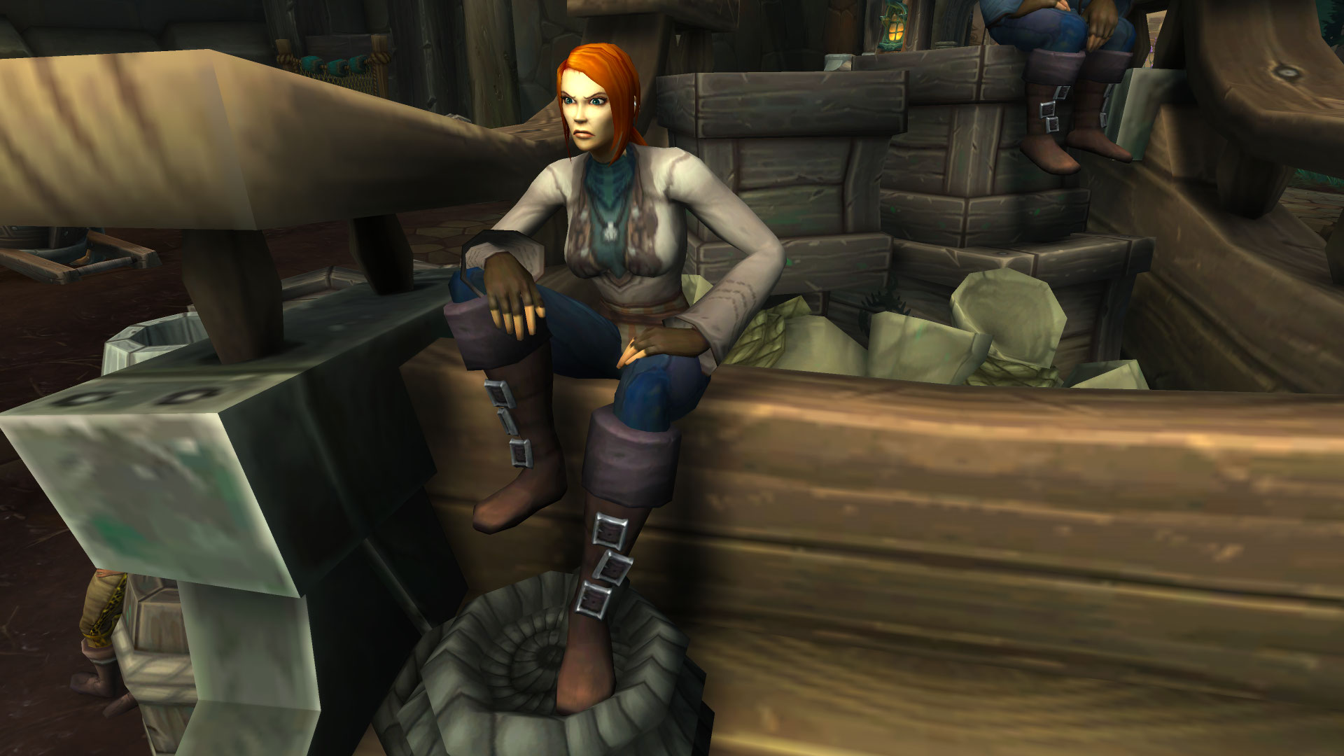 WoW BfA Chilling Sit Pose