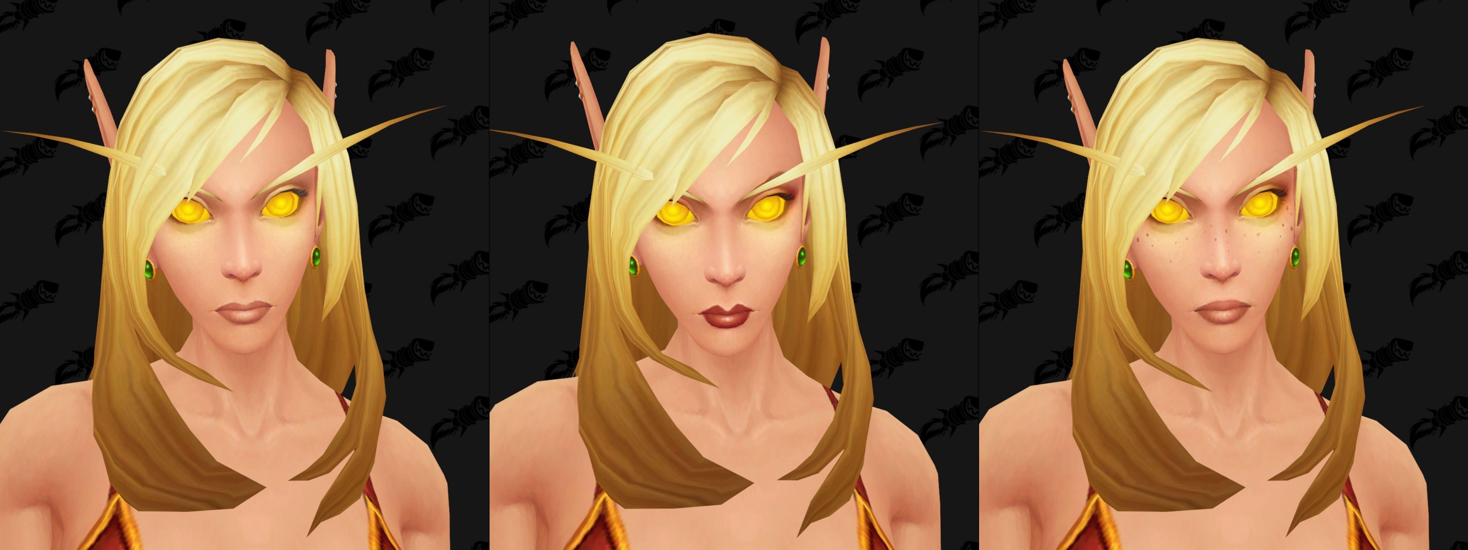WoW Blood Elf Golden Eyes Female