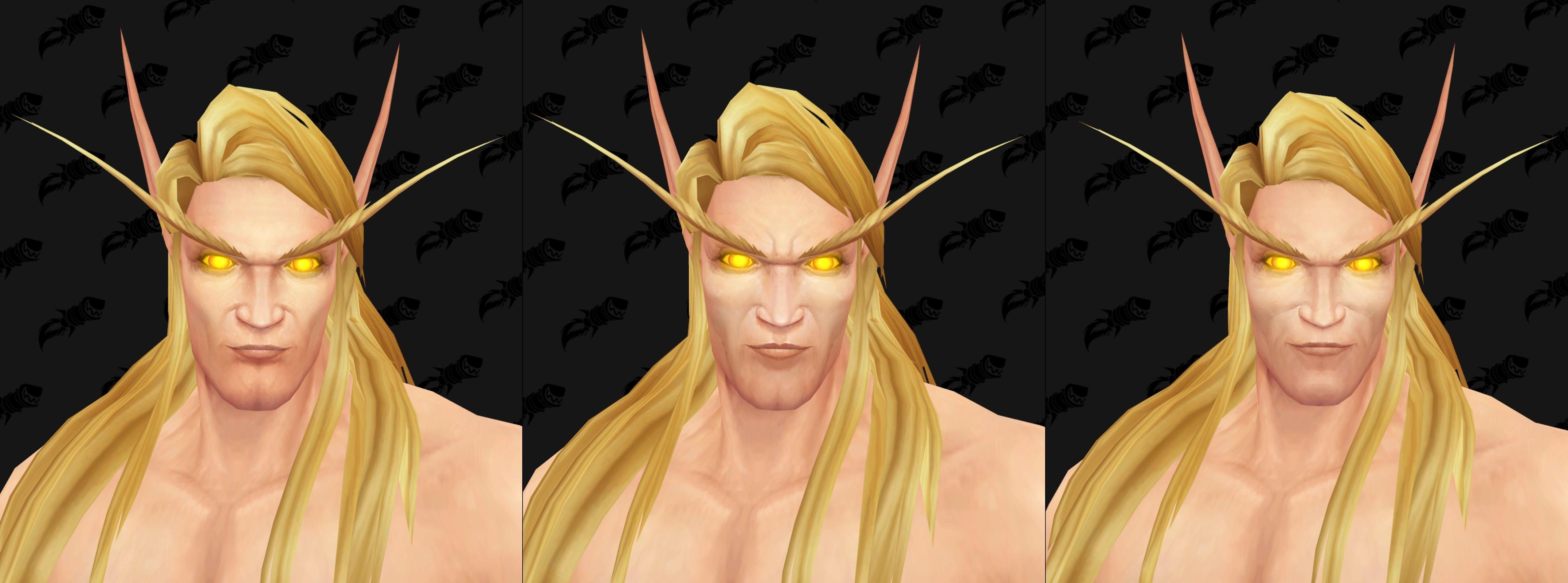 WoW Blood Elf Golden Eyes Male