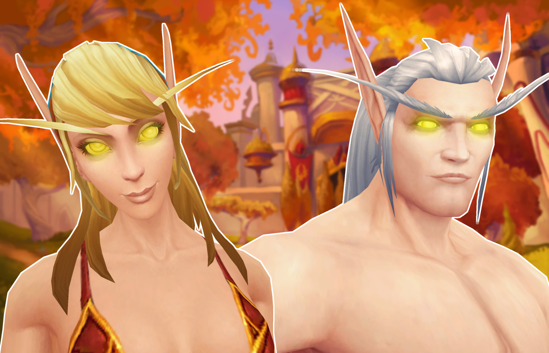 WoW Blood Elves Golden Eyes