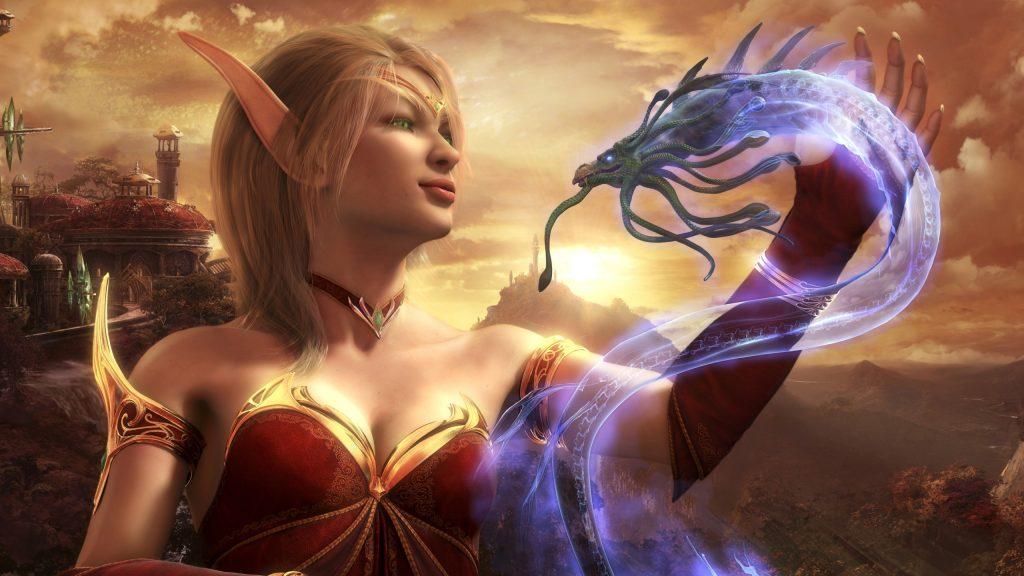 WoW Burning Crusade Blood Elf Mana Wyrm