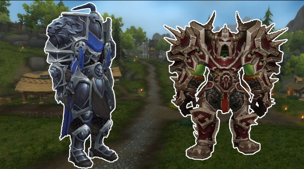 WoW Warfront Armor Alliance Horde title
