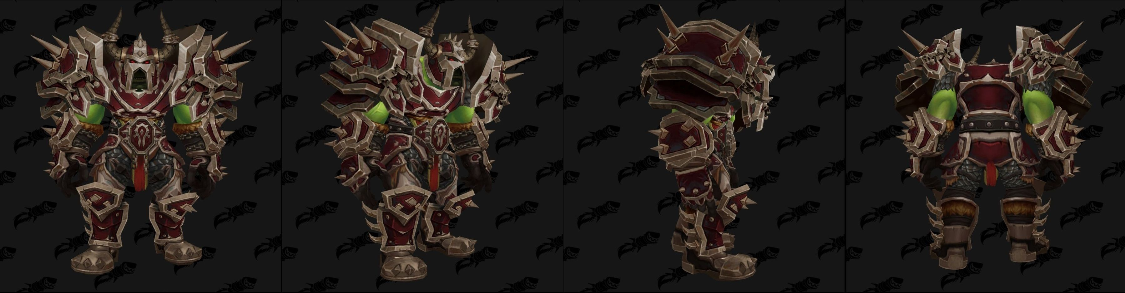 WoW Warfront Armor Orc Set 3