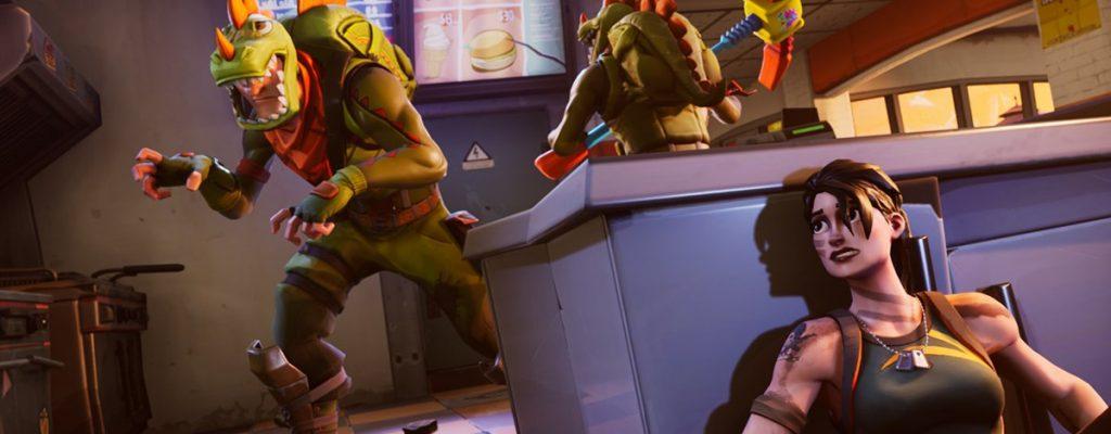 In Fortnite könnt ihr mit dem neuen Rex-Skin als Dinosaurier rumtoben!