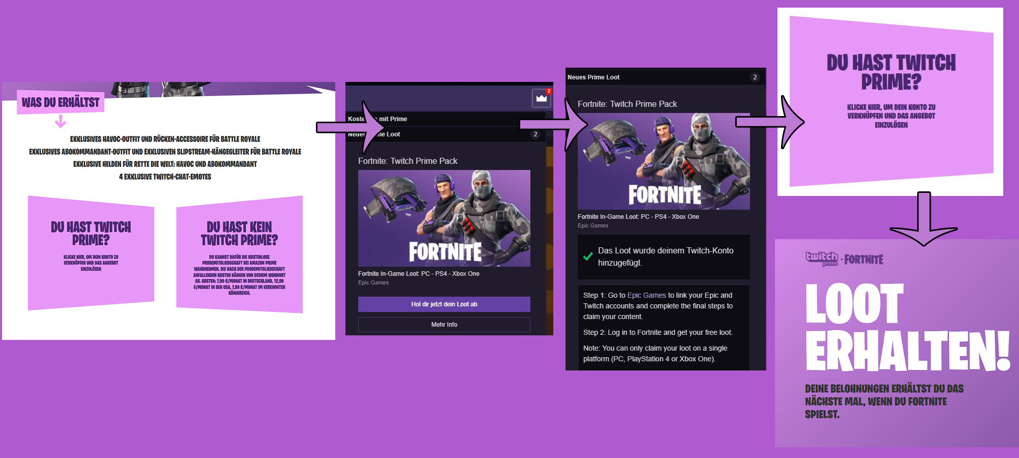 Fortnite bietet Amazon Twitch Prime-Abonnenten exklusiven Loot