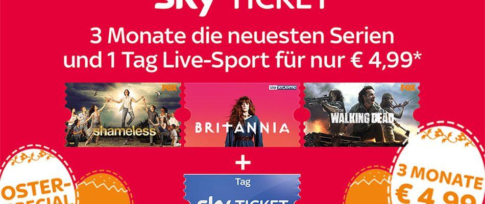 Aktuelles Sky-Angebot – 3 Monate Sky Ticket + 1 Tag Live-Sport für einmalig 4,99 Euro