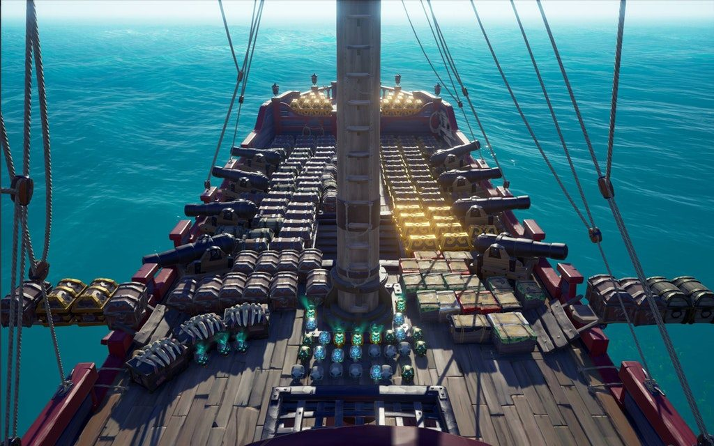Sea of Thieves Schiff voll Beute