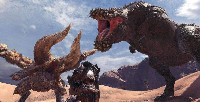Der gehärtete Dämonjho zerstört gerade die Spieler in Monster Hunter World