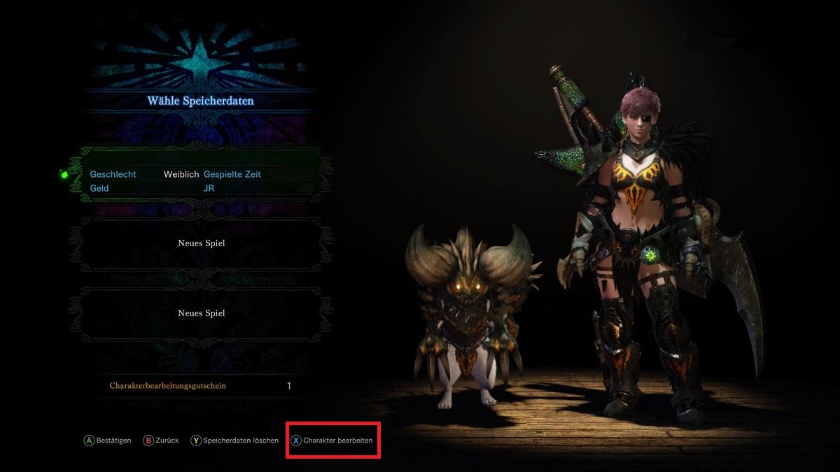 Monster Hunter World Auswahl