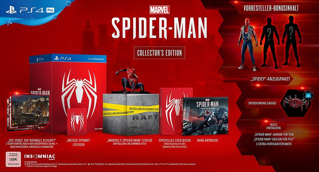 Spider-Man Collector's Edition PS4