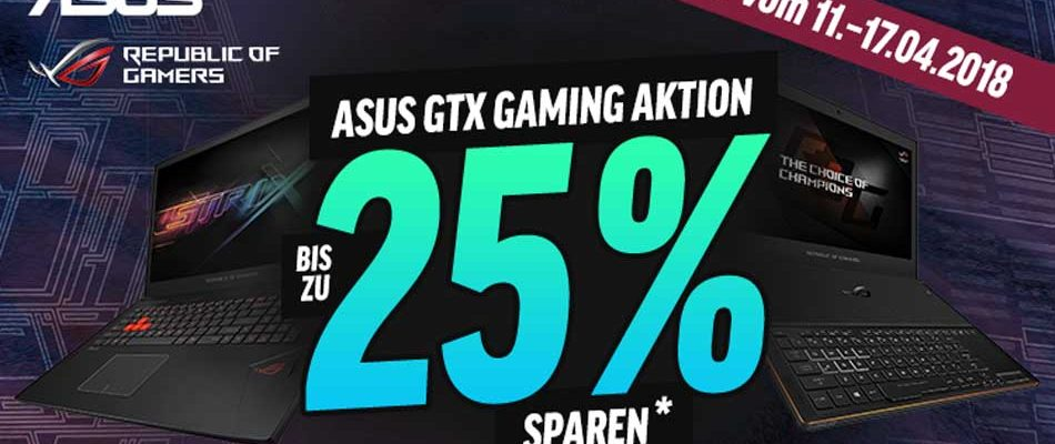 Notebooksbilliger: ASUS ROG GL702 Gaming-Notebook zum Bestpreis