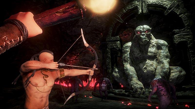 Conan Exiles Dungeon mit Pfeil und Bogen