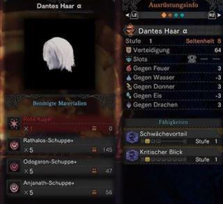 Dantes-Haar