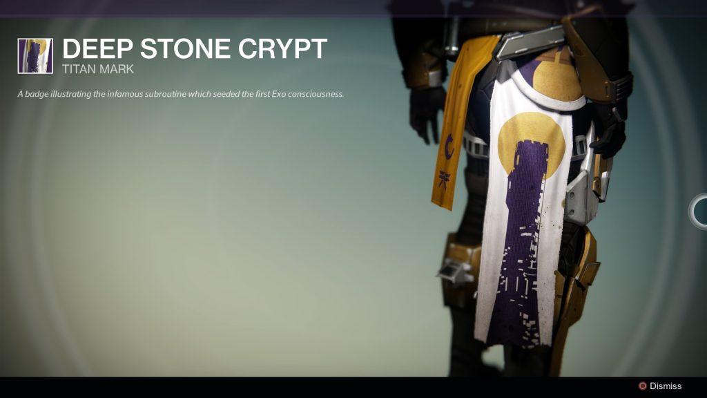 Deep Stone Crypt Class Item Destiny