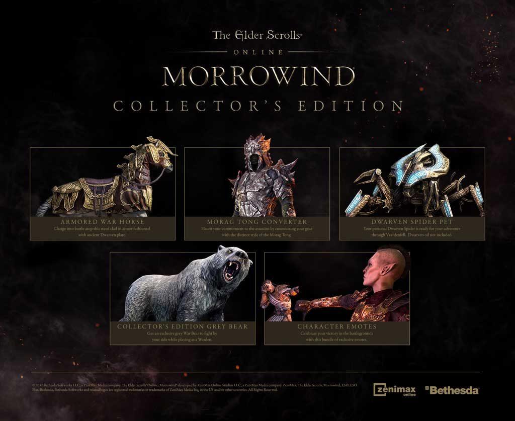 ESO Morrowind Collectors Edition