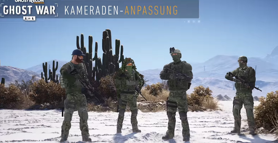 Ghost Recon Wildlands Kameraden Anpassung