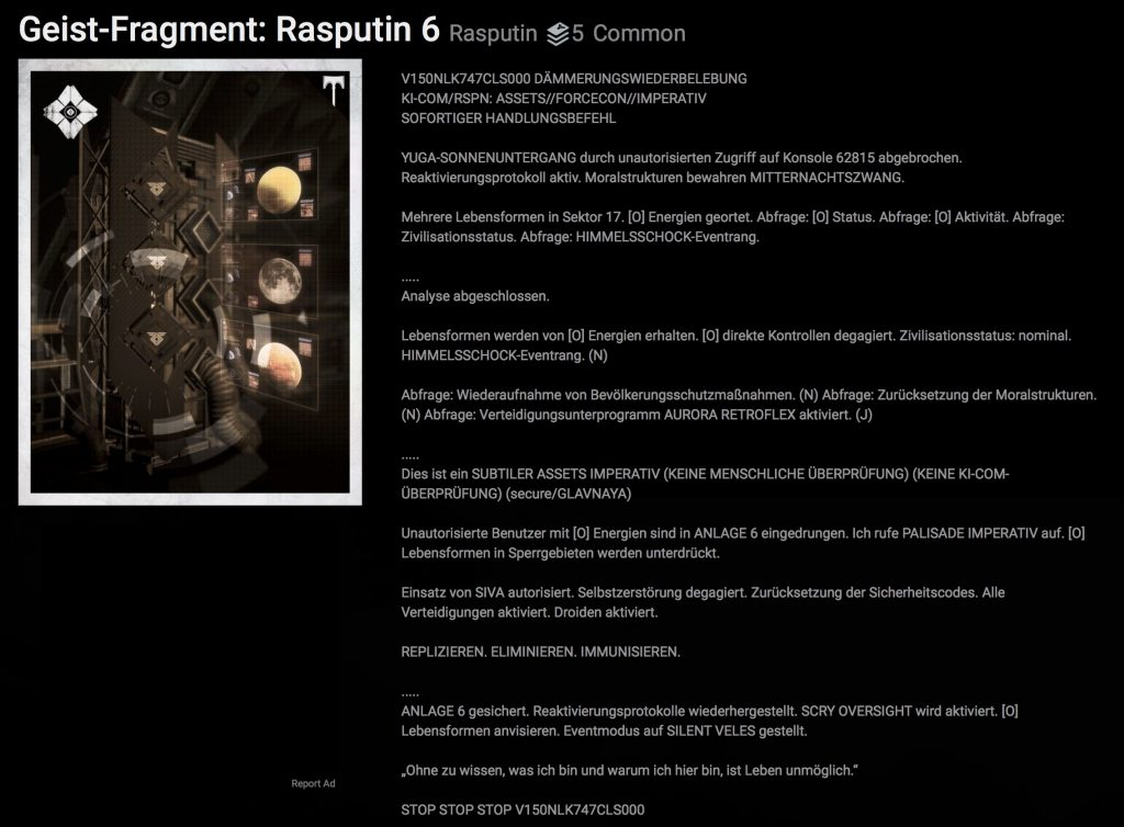 Grimoire Destiny Rasputin 6