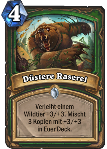 Hearthstone Witchwood Duestere Raserei