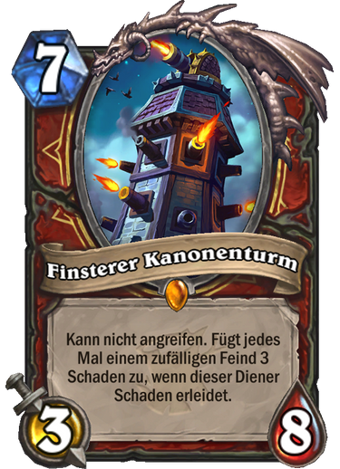 Hearthstone Witchwood Finsterer Kanonenturm