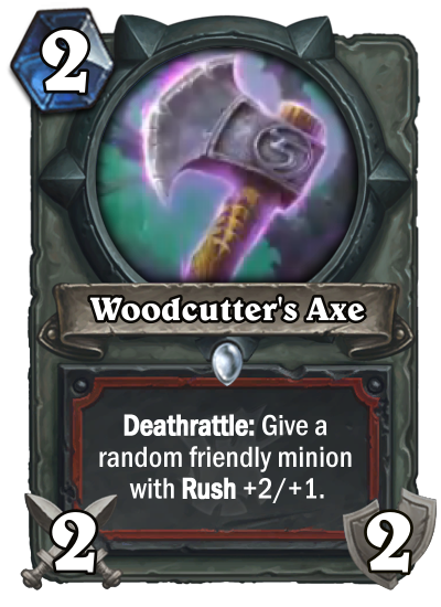 Hearthstone Witchwood Woodcutters Axe