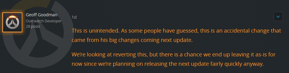 Overwatch Geoff Quote Hanzo Change
