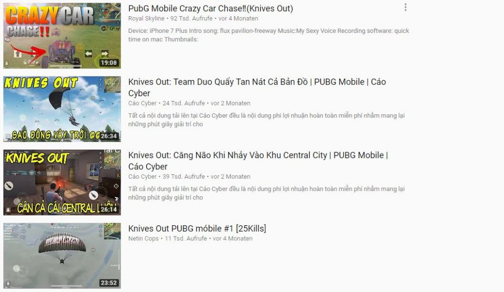PUBG Mobile YouTube