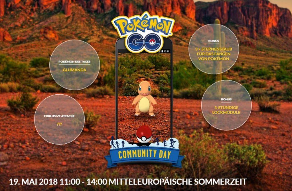 Pokémon GO Com Day Glumanda