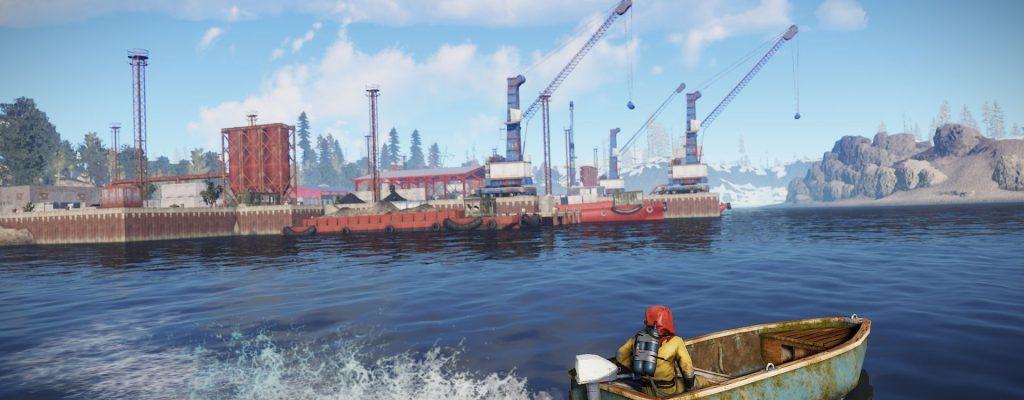 In Rust gibt es jetzt Boote und Spieler haben einen Mordsspaß damit!