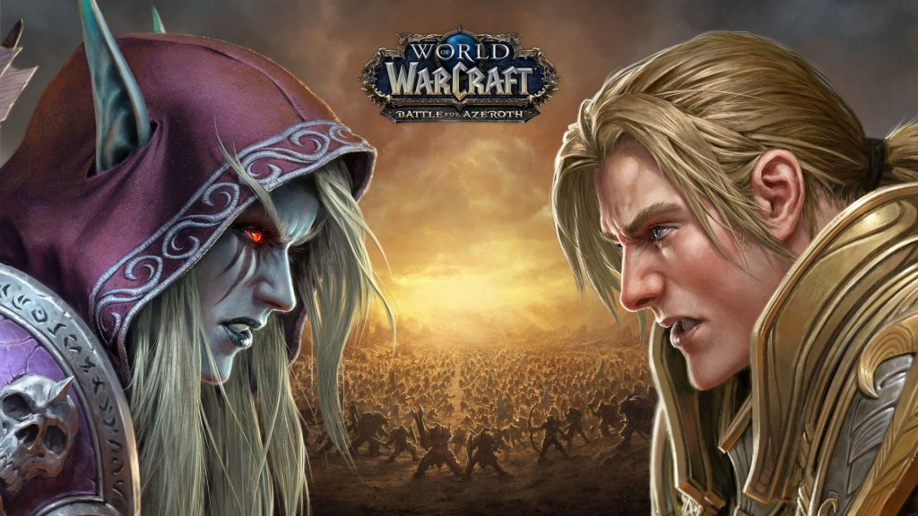 WoW Battle for Azeroth BfA Sylvanas Anduin Key Art small