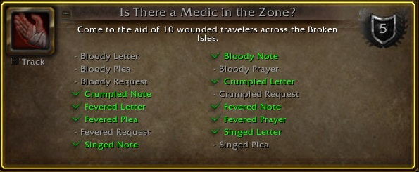 WoW Erste Hilfe is there a medic