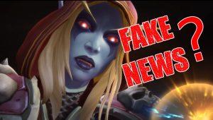 WoW Sylvanas Fake News