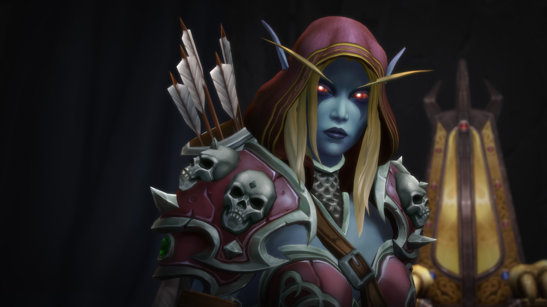 WoW Sylvanas Windrunner BfA Throne Room