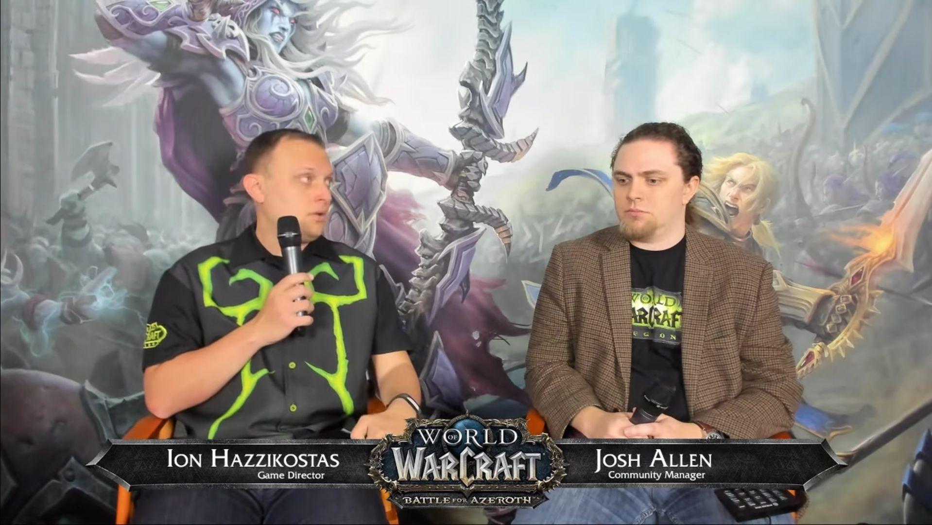 World of Warcraft Developer QA Ion Hazzikostas and Josh Allen 28 April 2018