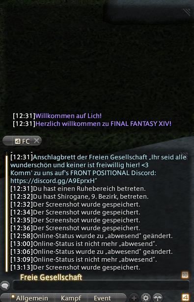 final fantasy xiv chat split
