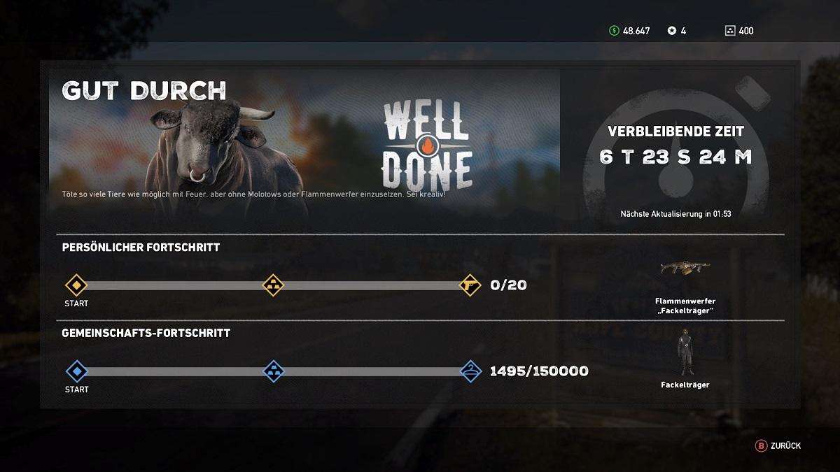 Far Cry 5 Event Gut durch Fortschritt