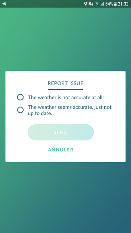 Pokémon GO Wetter Probleme
