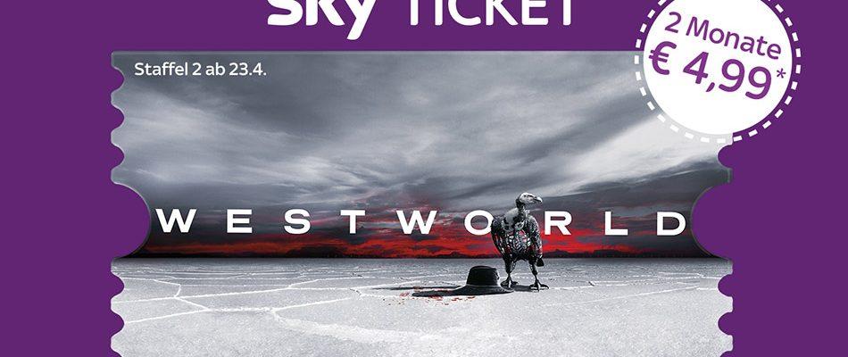 2 Monate Sky Entertainment Ticket für 4,99€ mit Westworld Staffel 2
