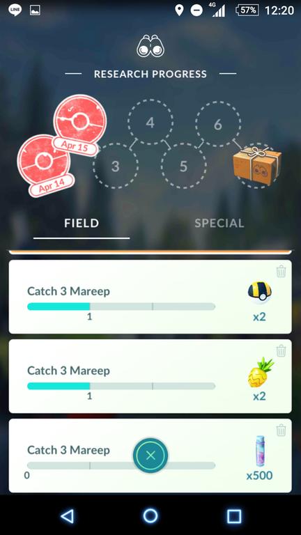 Pokémon GO Feldforschungen Voltilamm