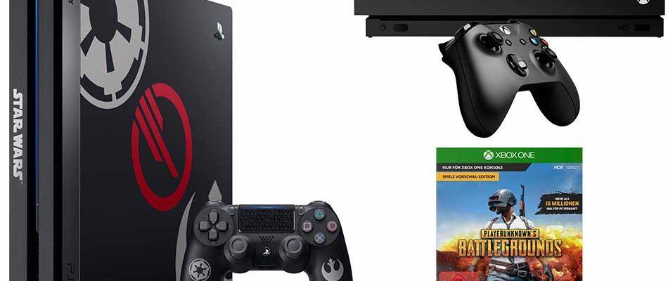 PS4 Pro Star Wars-Edition und Xbox One X Bundle jeweils besonders günstig