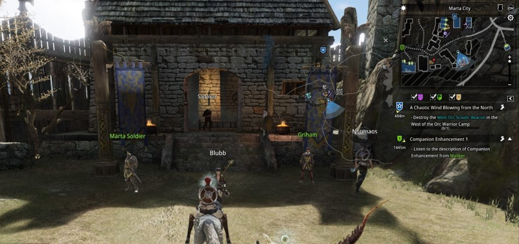Bless Eingang erster Dungeon Hieron