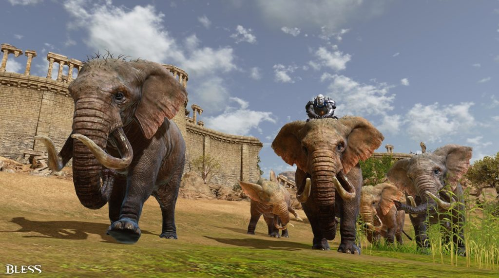Bless Online Elefant gezähmt