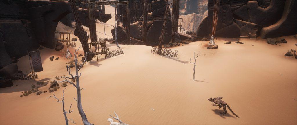 Conan Exiles Lager der Wüstenhunde der Bau