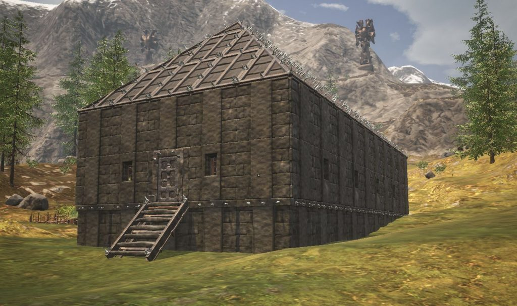 Conan Exiles Langhaus aus schwarzem Eis
