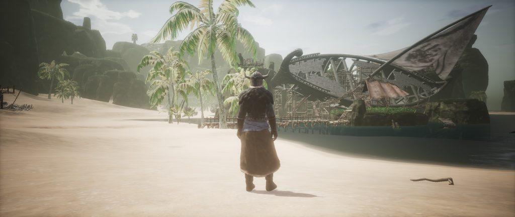 Conan Exiles Piratenschiff im Sumpf