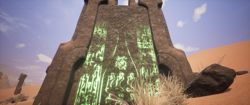 Conan Exiles Schrifttafel Screenshot