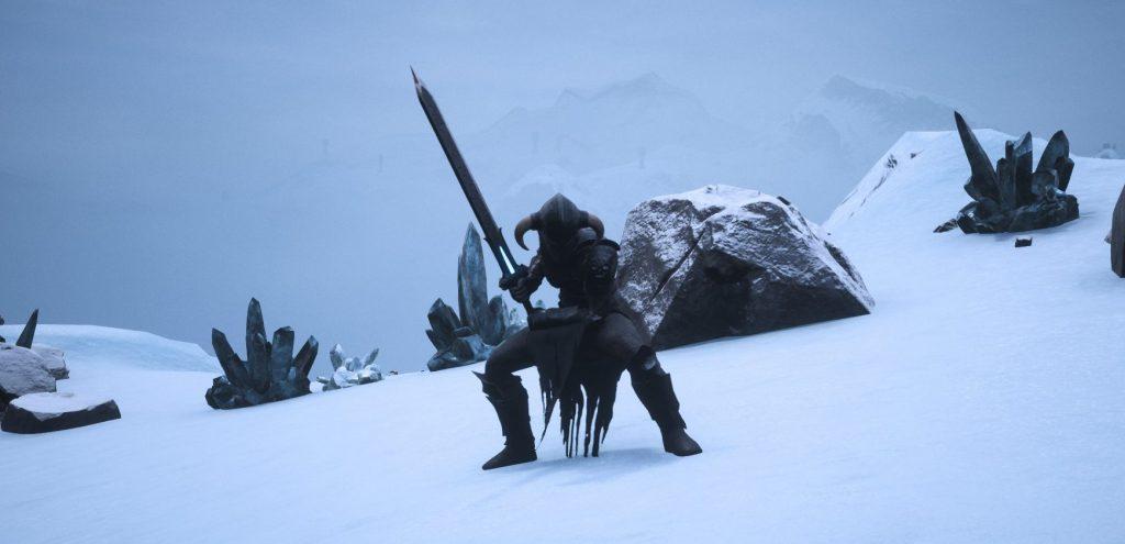 Conan Exiles Screenshot Endgame Rüstung mit Sternenmetall Großsschwert