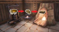 Conan Exiles Screenshot Presse Feuerschalenklkessel Ofen Wundsekret gehärteter Stein gehärteter Ziegel Titel